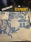 bernat needlepoint pillow chair seat top six point vtg NOS Choice Pick one