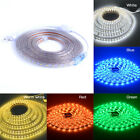 New1-5m 5050 LED Flexible Tape Rope Strip Light Xmas Outdoor Waterproof 220V