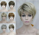 New Womens Synthetic wigs 7 Colors Short Straight Ladies Basic Hair wigs+Wig Cap