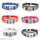 1pc Hot Fashion Snap Button Multilayer Leather Bracelet Diy Button Jewelry Gw
