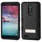 For ZTE Blade X Max Rubber IMPACT TUFF Hybrid KICKSTAND Case Phone Cover
