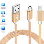 Long Micro USB Fast Data Charger Cable Lead for Samsung Galaxy S3 S4 S5 S6 Tab 4
