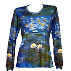 CLAUDE MONET Water Lilies Pond Waterlilies TOP LS T-SHIRT FINE ART PRINT
