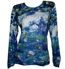 CLAUDE MONET Water Lilies Pond NYMPHEAS IMPRESSION LS T-SHIRT FINE ART PRINT