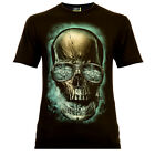 Gambler Skull - Rock Eagle T-Shirt Glow in the Dark Totenschädel Tattoostyle