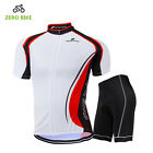 New Men Sports Team Cycling Jersey Sets Bike Bicycle Top Short Sleeve Clothing
