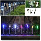 5/10PCS Stainless Steel LED Solar Power Light Lawn Outdoor Garden Landscape Path