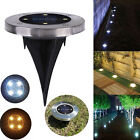 Waterproof Solar Light 4 LED Round Underground Garden Yard Road Lawn Path Lamp