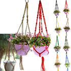 Jute Braided Rope Plant Hanger Hanging Basket Pot Holder Indoor Garden Decor