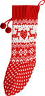 Christmas Shop Fireplace Knitted Christmas Hanging Stocking One Size