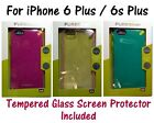 PureGear Slim Shell Case for iPhone 6 Plus / 6s Plus (5.5) with Tempered Glass