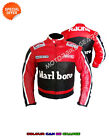 New Red motorbike leather suit racing motogp jacket ce armoured motorcycle gears