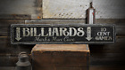 Billiards, Custom Name Man Cave, Play - Rustic Distressed Wood Sign ENS1001407 $48.6 USD on eBay