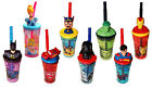 Kids 3D Figurine Character Drinking Tumbler Water Bottle with Expandable Straw