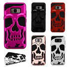 Samsung Galaxy S8 / S8 PLUS SKULL Hard Hybrid Dual Layer Soft Rubber Phone Case