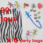 Party Favours 84 TOYS 6x Loot Bag BOYS kids birthday Reptile Sticky Lizards Bugs