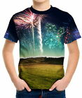 Spectacular Fireworks Boys Kids T-Shirt Tee wc1 ael40491