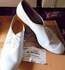 New/Box White Leather Clogging Shoe Character Shoe (no taps) Mens sizs MrStomper