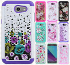 For Samsung Galaxy Express Prime 2 HYBRID IMPACT Diamond Case Phone Cover