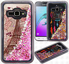 For Samsung Galaxy Express 3 Liquid Glitter Quicksand Hard Case Phone Cover