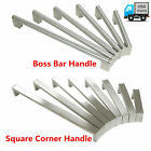 Modern Stainless Steel Boss Bar Square Corner Cabinet Door Handles Drawer Pulls