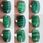 """16mm Malachite fat oval rice pendant bead 0.6""""*each one picture*"""