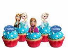 EDIBLE DISNEY FROZEN LOGO ELSA ANNA STANDUP HAPPY BIRTHDAY CAKE CUPCAKE TOPPERS