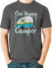 One Happy Camper T Shirt Camping Outdoors Mens Sizes Small to 6X and Tall