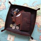 Handmade Personalised Genuine Leather LARGE Valet Tray Caddy Bedside Organiser