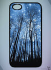 Nature // Trees, Forest, Sky, Stars, Blue // Phone Case [IPhone] [Galaxy] 17