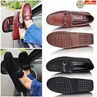 Mens New Leather Suede Slip On Casual Mocassin Loafer Driving Shoes UK Size 5-13