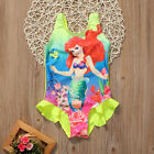 US Stock Kids Girls Toddler Ariel Swimsuit Swimwear Bathing
