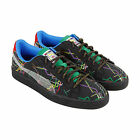 Puma Basket X Dee & Ricky Mens Black Suede Lace Up Lace Up Sneakers Shoes