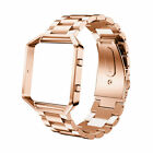 Replace Stainless Steel Wrist Watch Band Strap with Metal Frame For Fitbit Blaze