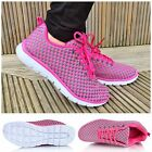 Ladies Womens Lace Up Shock Absorbing Lightweight Gym Running Trainers Shoes 3-8