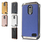 For ZTE Max XL N9560 IMPACT HYBRID Plating Protector Case Skin Phone Cover
