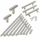 "New Stainless Steel T Bar Cabinet Handles Kitchen Pulls Drawer Knobs ∅1/2"" Tube"