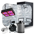 """600W LED Grow Light + Grow Tent+4"""" Inline Fan Carbon Air Filter Ducting Combo"""