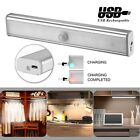 USB Rechargeable 18 LED Auto PIR Motion Sensor Night Light Cabinet Wardrobe Lamp