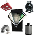 """800W LED Grow Light+Grow Tent+4"""" Inline Fan Carbon Air Filter Ducting Combo"""