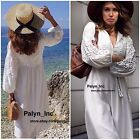 NWT ZARA SS17 BEIGE WHITE FLOWING MAXI LONG EMBROIDERED DRESS 6895/044_ XS S M L