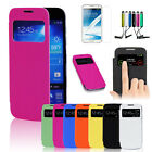 Hot Smart Cover Case For Samsung Galaxy S4 + Stylus Pen + Screen Protector Auto
