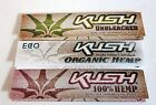 KUSH King Size Slim Rizla Rolling Papers Organic Hemp Unbleached 32 Sheets