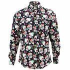 Mens Loud Shirt Retro Psychedelic Funky Party TAILORED FIT Mexican Skulls