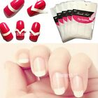 French Nail Manicure Tip Guides Stickers PVC Nail Art Forms 10 PCS 3 Style Pack