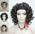 Womens Curly Wigs Synthetic Spiral Ladies Casual Short Hair Full wig+Wig Cap
