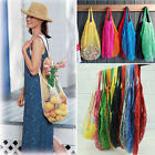 Reusable Drawstring String Shopping Grocery Cotton Bag Tote Net Mesh Handbag Hot