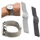 Shark Mesh Stainless Steel Watch Band Strap fits Breitlin Thick & Heavy 18~24mm image