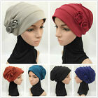 Women New Cotton Hijab Flower Hat Cancer Chemo Beanie Baggy Cap Turban Hat