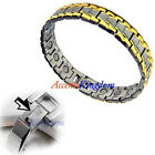 Accents Kingdom Men's Italian Style Magnetic Therapy Golf Bracelet  D
